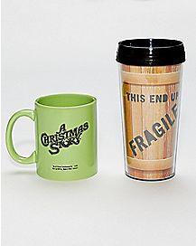A Christmas Story Travel Mug and Coffee Mug 2-Pack - 16 oz.