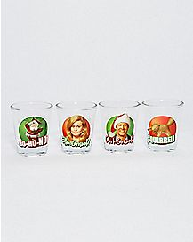 National Lampoon's Christmas Vacation Shot Glasses 1.5 oz - 4 Pack