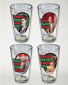 A Christmas Story Pint Glass 4 Pack - 16 oz.