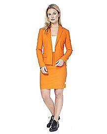 Adult Foxy Orange Skirt Suit