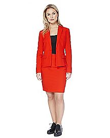 Adult Red Ruby Skirt Suit