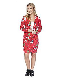 Adult ChristMISS Ugly Christmas Skirt Suit