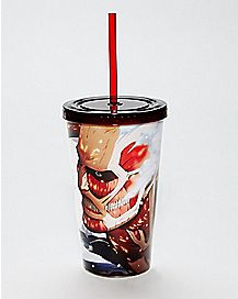 Attack on Titan Cup With Straw - 16 oz.