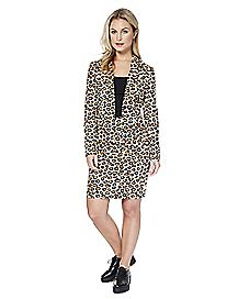 Adult Lady Jaguar Skirt Suit