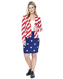 Adult American Woman Skirt Suit