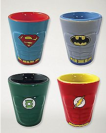 DC Comics Shot Glasses 4 Pack - 1.5 oz.