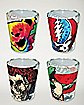 Grateful Dead Shot Glasses 4 Pack - 1.5 oz.