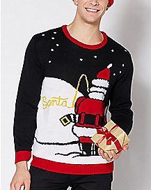 Peeing Santa Ugly Christmas Sweater