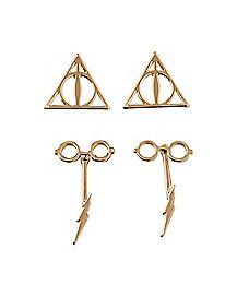 Harry Potter Stud Earrings - 2 Pair