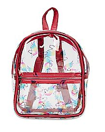 Clear Unicorn Mini Backpack