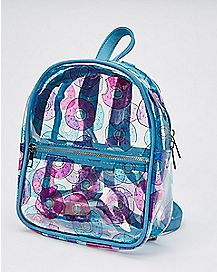 Clear Donut Mini Backpack
