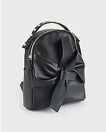 Black Bow Mini Backpack