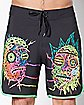 Two Heads Rick and Morty Board Shorts