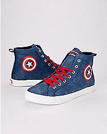 Captain America High Top Sneakers - Marvel