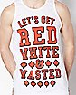 Maple Leaf Let's Get Ready White and Wasted Tank Top