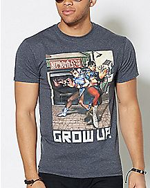 Grow Up Street Fighter T Shirt