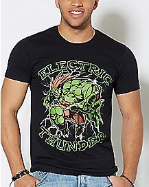 Electric Thunder Street Fighter T Shirt