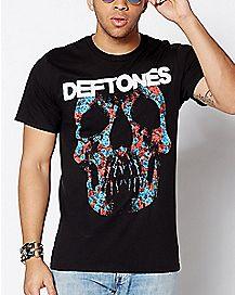 Minerva Rose Skull Deftones T Shirt