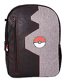 Gray and Black Pokeball Backpack - Pokémon
