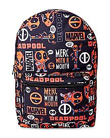 Merc With A Mouth All Over Deadpool Backpack - Marvel