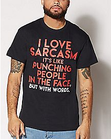 I Love Sarcasm Plus Size T Shirt