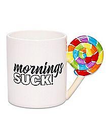 Lollipop Mornings Suck Coffee Mug - 20 oz.