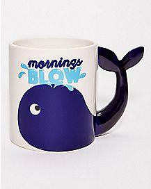 Whale Mornings Blow Coffee Mug - 20 oz.