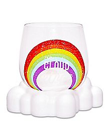Rainbow On Cloud Wine Stemless Wine Glass - 12 oz.