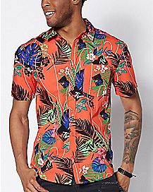 Tropical MTV Button Down Shirt