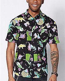 Dinosaur MTV Button Down Shirt