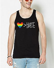 Rainbow Love is Greater Than Hate Tank Top