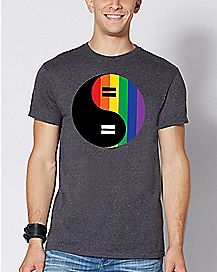 Yin and Yang Rainbow T Shirt