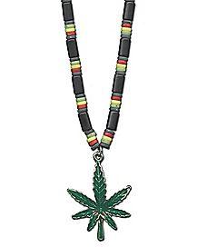 Industrial Rasta Leaf Necklace
