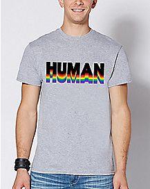 Rainbow Human T Shirt