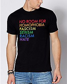 Rainbow No Room For Hate T Shirt