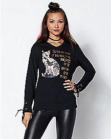 Thackery Binx Cat Sweatshirt - Hocus Pocus