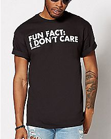 Fun Fact I Don't Care Plus Size T Shirt