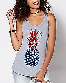 American Pineapple Tank Top