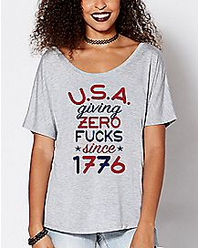 USA Giving Zero Fucks Since 1776 T Shirt