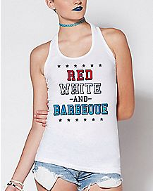 Red White and Barbeque Tank Top