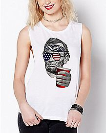 Cheers Beer Abraham Lincoln Muscle Tank Top