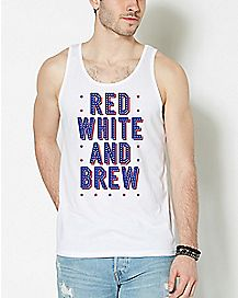 Red White and Brew Tank Top