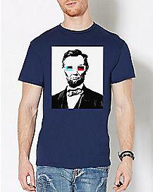 3D Glasses Abraham Lincoln T Shirt