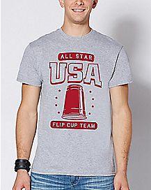 USA Flip Cup Team T Shirt
