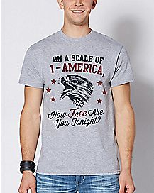 On A Scale Of 1 to America T Shirt