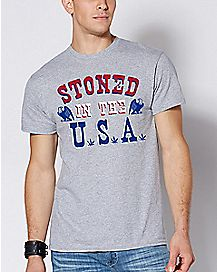 Stoned In The USA T Shirt