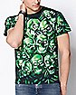 2-Sided Glow In The Dark Skull T Shirt