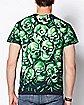 2-Sided Glow In The Dark Skull T Shirt