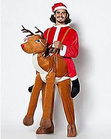Adult Reindeer Piggyback Costume