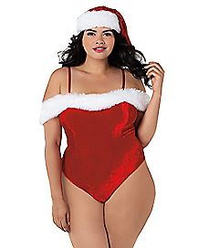 Plus Size Santa Teddy and Hat